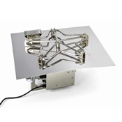 square stainless steel gas fire pit burner