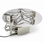 round stainless steel gas fire pit burner