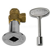 brass knobs and valves
