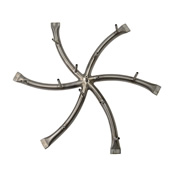 round stainless steel star shaped fire pit burner