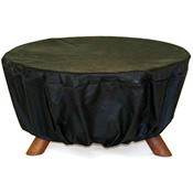 portable fire pit with black covering